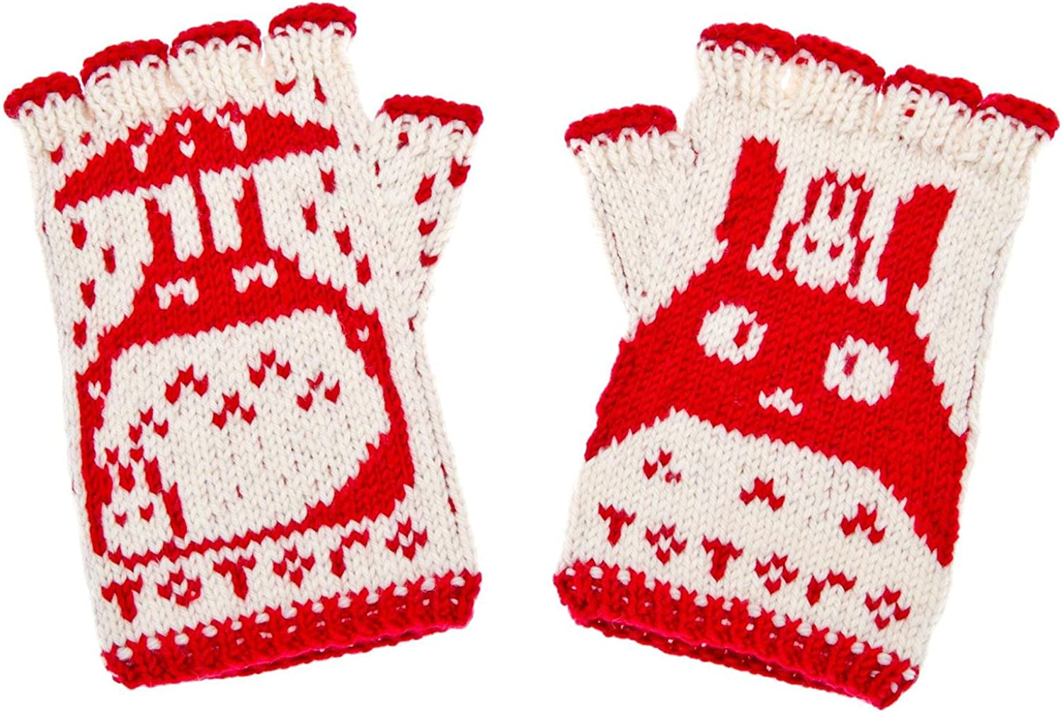 Totoro Fingerless Gloves - hand-knit from pure merino wool. Totoro Gloves Arm Warmers Hand Knit gloves for typing & driving