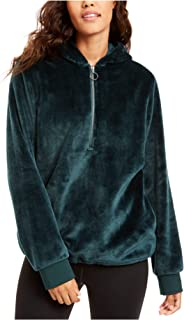 Ideology Womens Fleece Cold Weather Velour Jacket