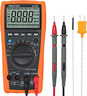 Proster Auto-Ranging Digital Multimeter 6000 Counts and 2000uF Digital Multimeters Meter..