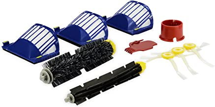 LOOYUAN Accessory for Irobot Roomba 600 610 620 650 Series Vacuum Cleaner Replacement Kit Includes 3 Pack Filter, Side Brush, and 1 Pack Bristle Brush and Flexible Beater Brush, 1 Pack Cleaning Tool