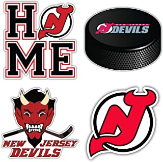 "Devils Hockey - New Jersey Set of 4 Decals 5"" Longer Side"