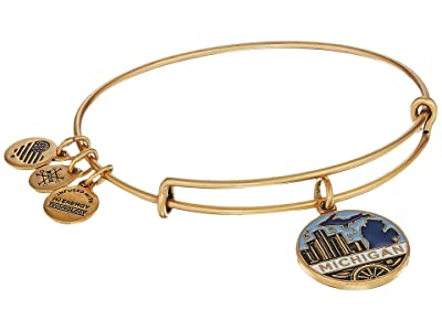 Alex and Ani Places We Love Michigan Bangle (Rafaelian Gold) Bracelet