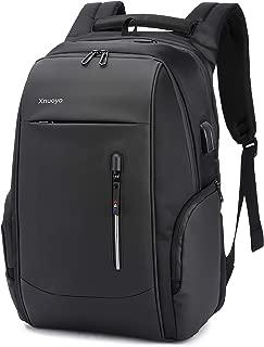 Xnuoyo 大容量ビジネスリュック ビジネスバッグ PCバッグ バックパック 17.3インチpcリュック 防水 撥水加工 軽量 メンズ レディース USB ポート搭載 通学 通勤 多機能