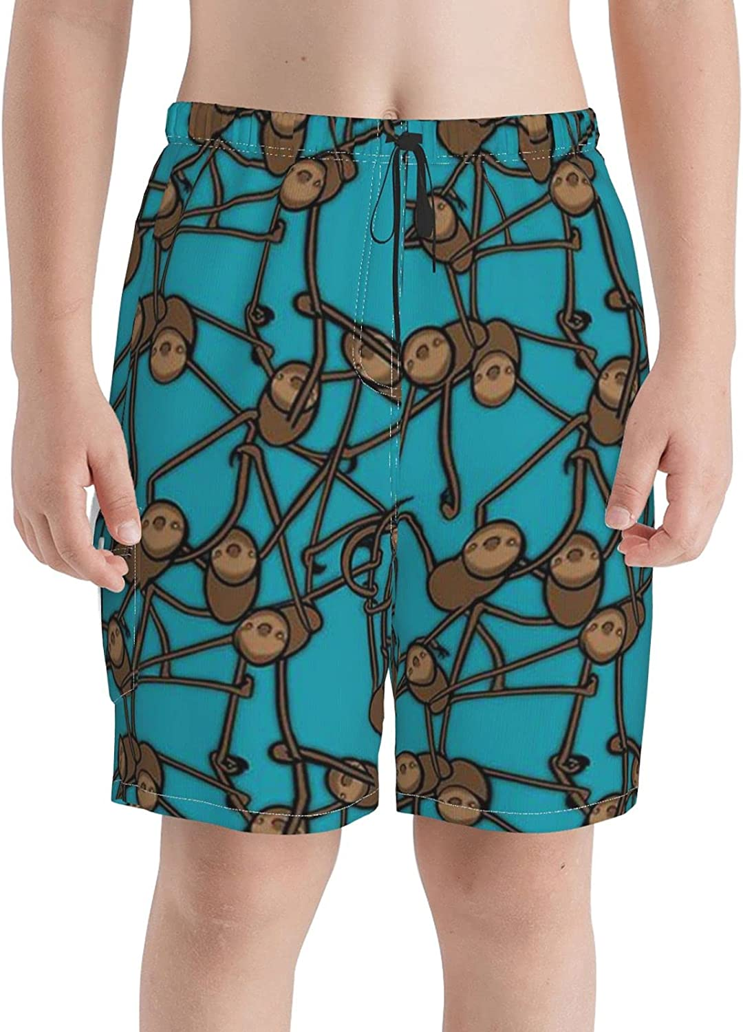 Neddelo Playful Sloths Boys 67% OFF of fixed price Clearance SALE Limited time Swim Beach Teens Boardshorts Trunks