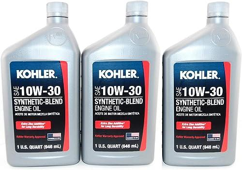 popular Maintenance new arrival 3 PK Kohler Engine 10W30 Synthetic Blend Motor outlet sale Oil 1 Quart Bottles outlet online sale