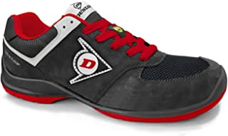 Dunlop DL0201027-47 Zapato Marr/ón 47 Piel de Ante y Mesh
