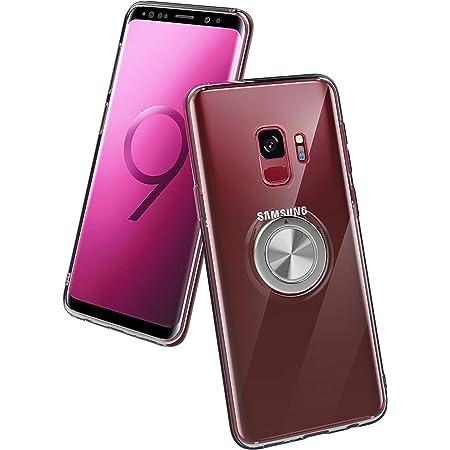 ZHIYIJIA Coque Samsung Galaxy S9 Ring 360/° r/églable bague magn/étique support en TPU coque silicone fonction support pour Samsung Galaxy S9 Rouge