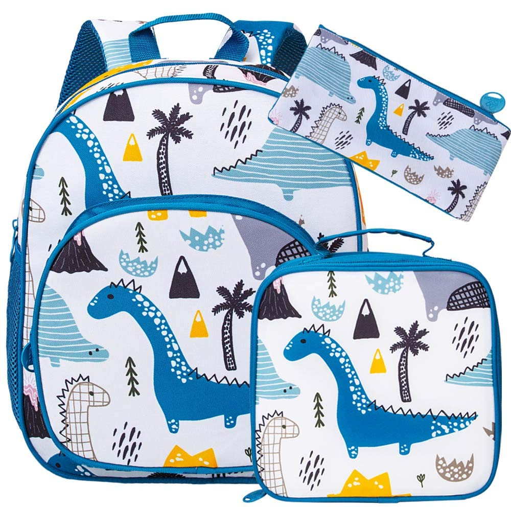 3PCS Toddler Backpack and Lunch Box for Boys - Dinosaur