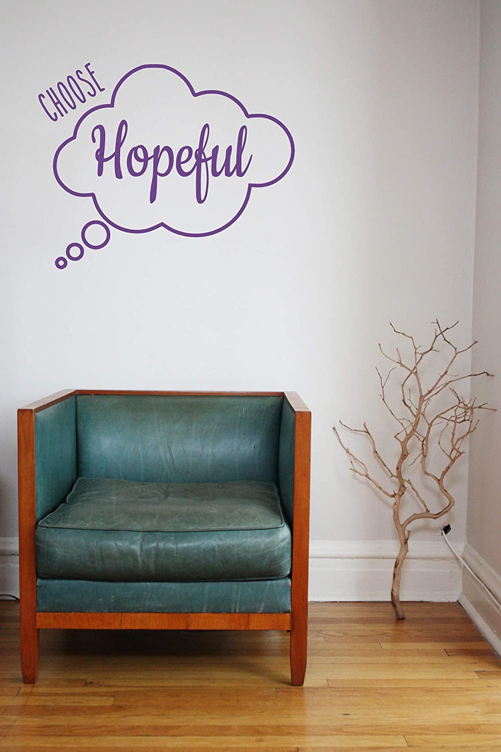 'Choose Hopeful' Quote vinyl Decal Motivational Sticker. Under blast Cheap mail order specialty store sales
