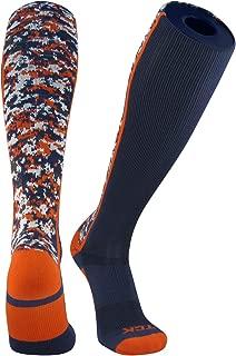 Digital Camo Elite Navy Blue Orange Knee High Baseball Football Soccer Socks