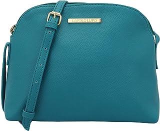 Lapis O Lupo YInMn Blue Women's Sling Bag (Tourquise) Multi-functional pocket design