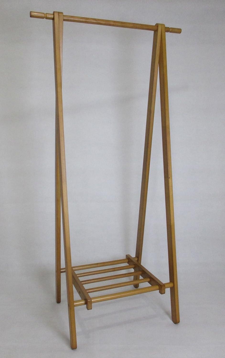 講師オーバーフロージェット木製ハンガーラック ポールハンガー アンティーク  lh-6110 br