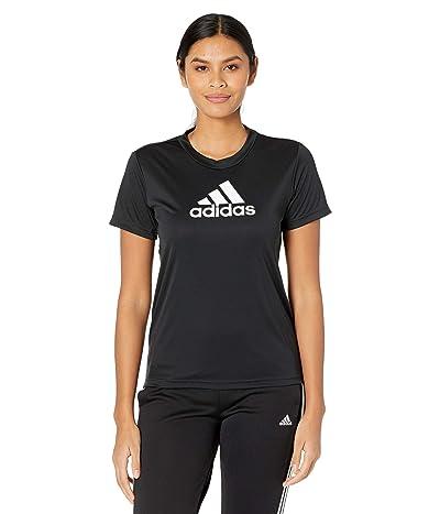 adidas Primeblue Designed 2 Move Logo Sport Tee (Black/White) Women