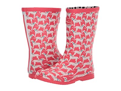 Joules Kids Roll Up Welly (Toddler/Little Kid/Big Kid) (Red Dog) Girl