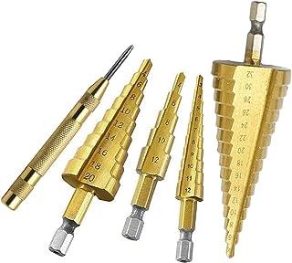 Drill HSS الصلب التيتانيوم خطوة مثقاب 3-12 ملليمتر 4-12 ملليمتر 4-20 ملليمتر خطوة مخروط cutt أدوات مثقاب معدني مجموعة ل خش...
