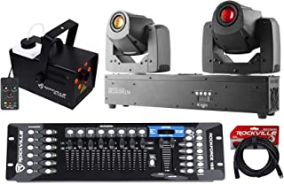 Chauvet Intimidator Spot Duo 155 Moving Heads+LED Fogger+DMX Controller+Cable