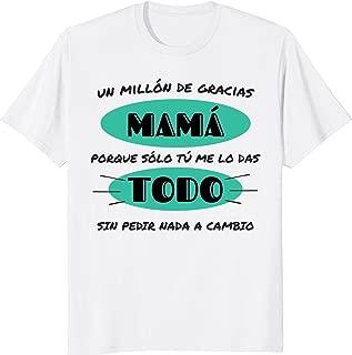 Gracias Mama por Todo Regalo Hija Hijo Playera Camisa Shirt