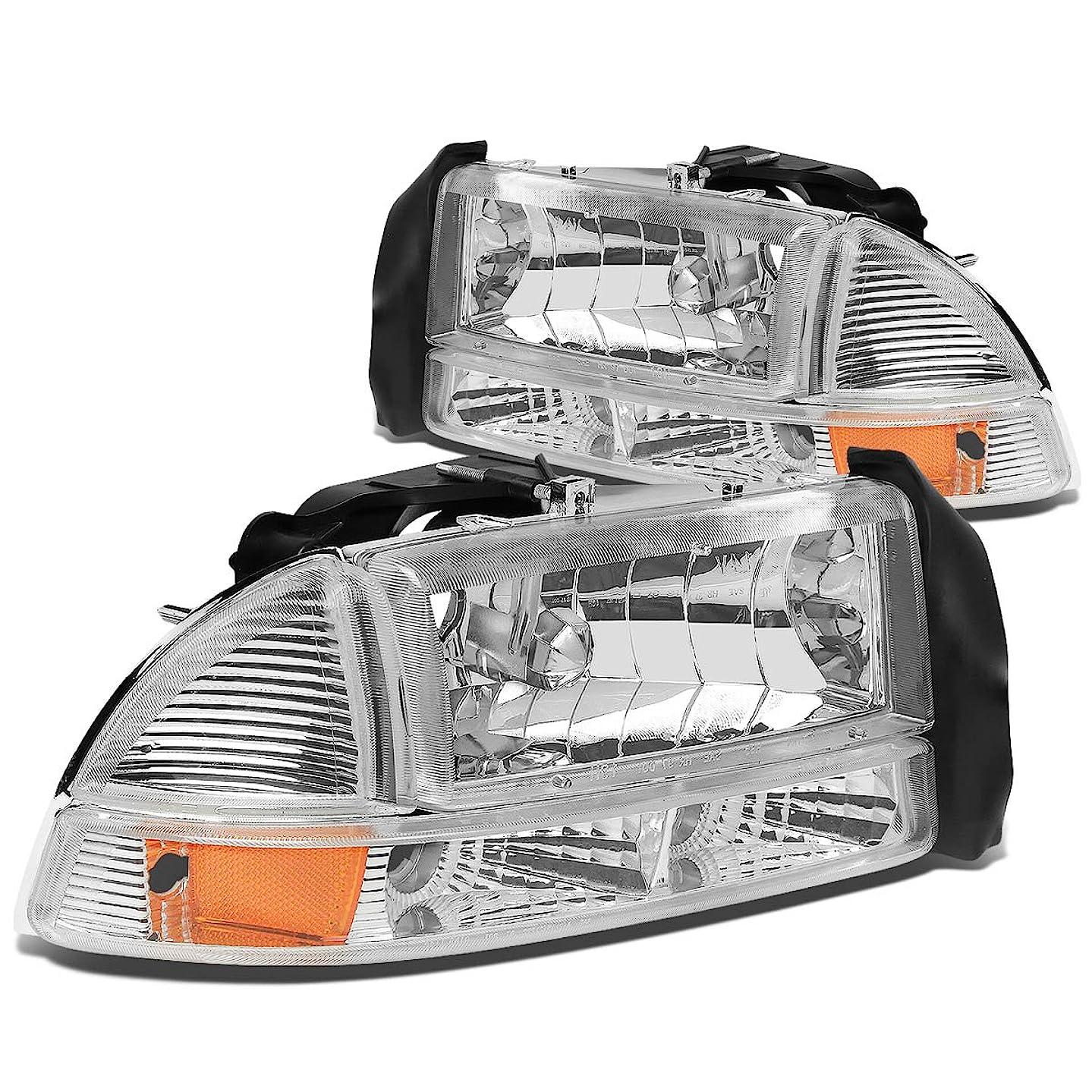 DNA Motoring HL-OH-DD974P-CH-AM Headlight Assembly, Driver & Passenger Side