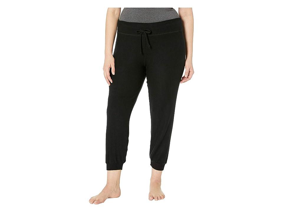 Beyond Yoga Plus Size Lounge Around Bopo Midi Jogger (Black) Women