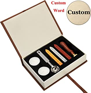 Personalized Logo Customized Wax Seal Stamp Set, Yoption Custom Made Your Own Design Logo Personalized Wedding Invitation Seal Wax Stamp Set, Ideal Gift