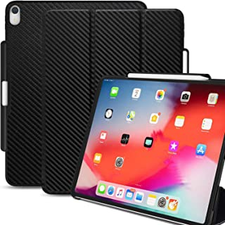 KHOMO iPad Pro 11 Inch Case with Pen Holder - Dual Carbon Fiber Super Slim Cover - Support Pencil Charging