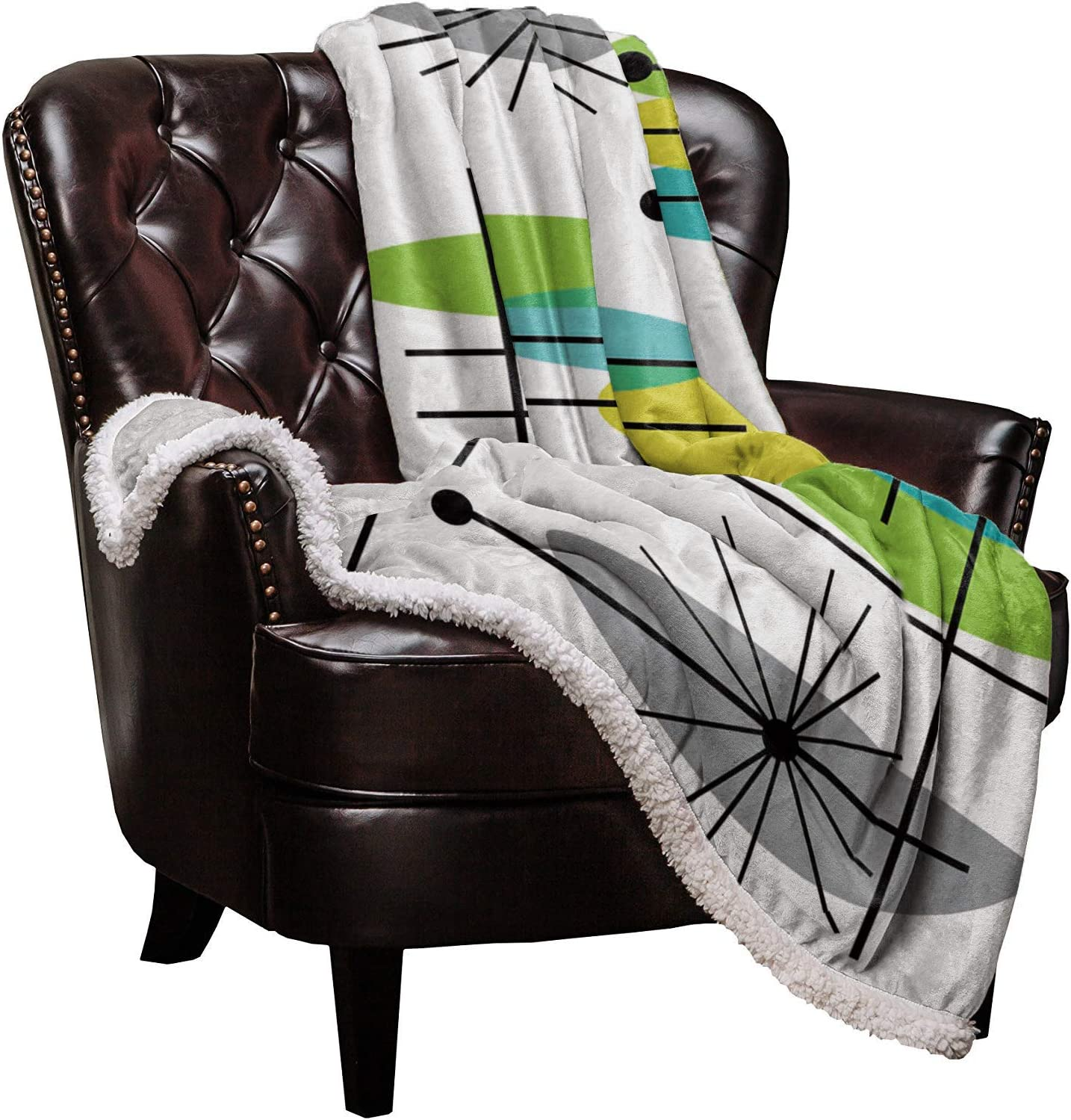 Big buy store Sherpa Flannel Throw L お買い得品 Blankets Modern Mid 2020A/W新作送料無料 Century
