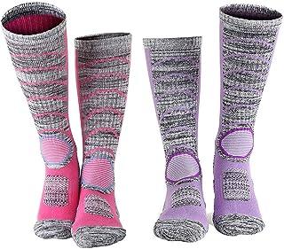 Ski Socks for Women Thermal Skiing Socks Snowboard & Hiking Socks 2-Pack, Medium