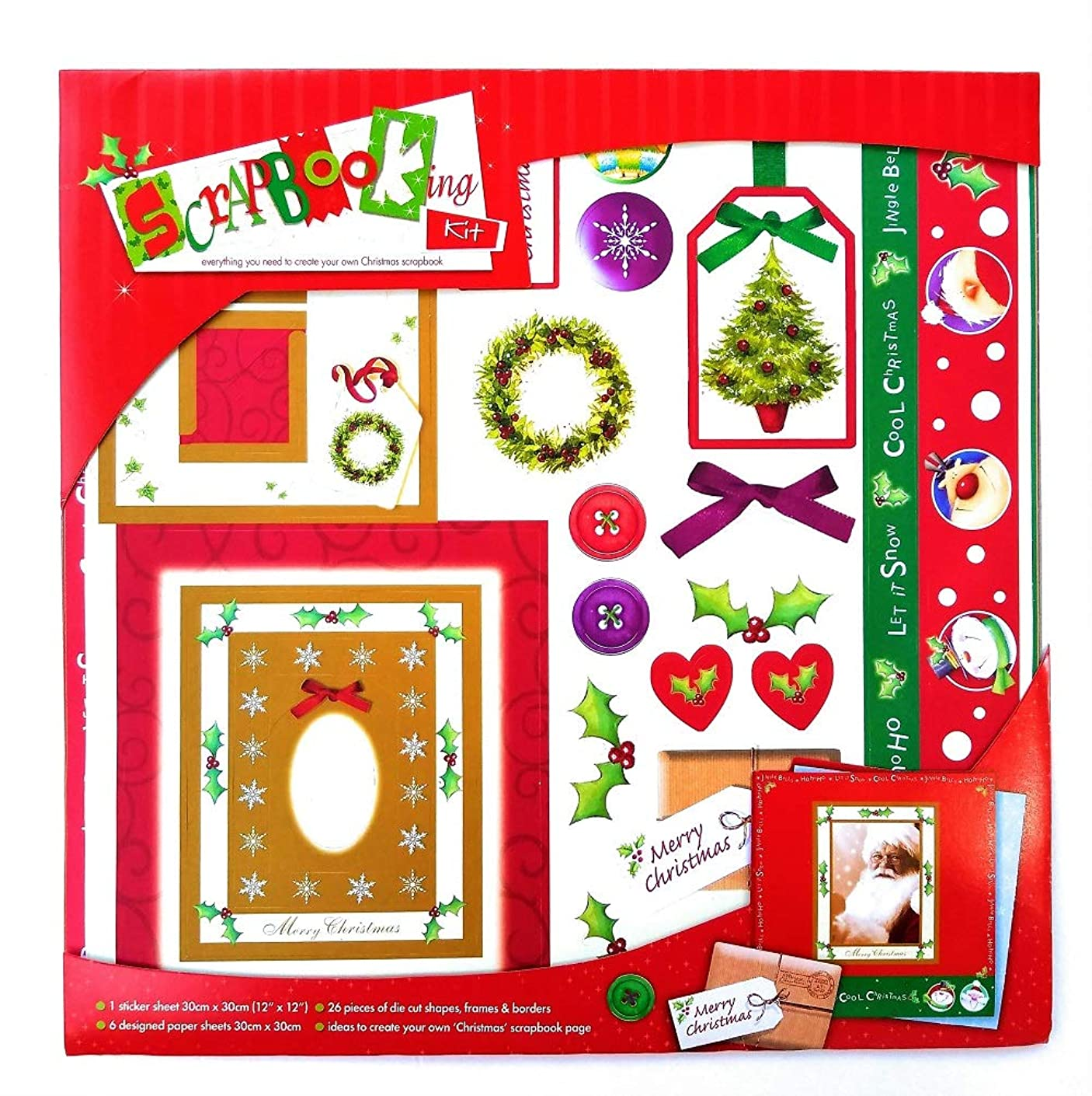 Christmas Scrap Booking Kit - Everything You Need to Create Your Own Christmas Scrapbook