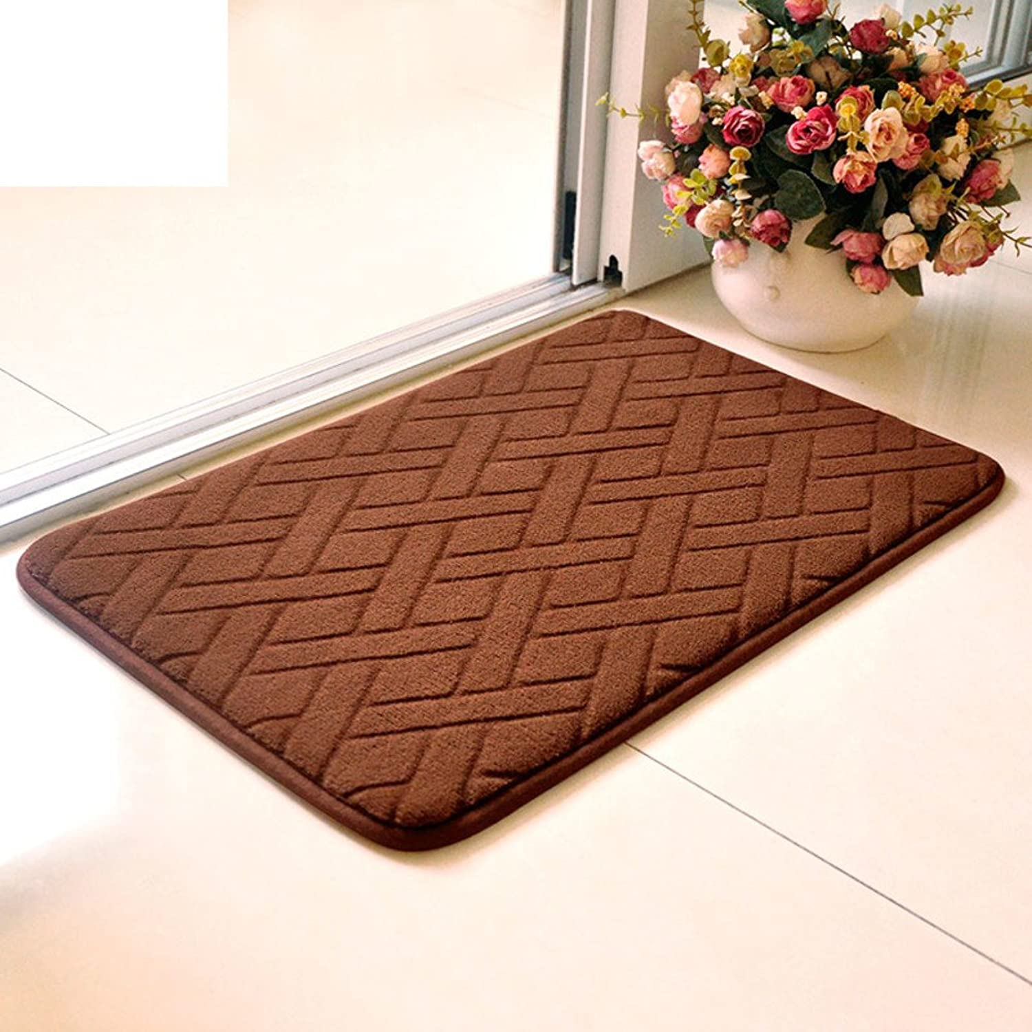 Water-absorbing mats thicken the hall mat kitchen restroom bathroom non-slip mats foot pad-C 120x140cm(47x55inch)