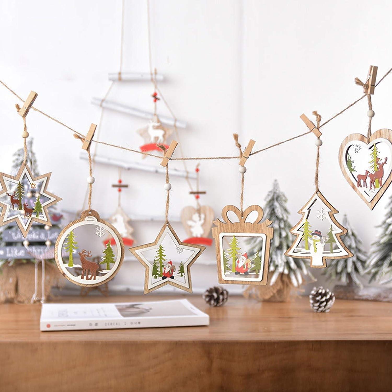 Amazon.com NUZYZ Christmas Decorations, 20Pcs Christmas Pendant ...