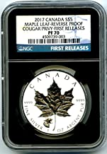 2017 Canada Coin Canadian Silver Maple Leaf Reverse Proof HOWLING COUGAR Privy FIRST RELEASES $5 PF70 NGC