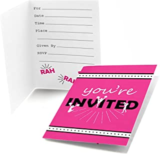 Big Dot of Happiness We've Got Spirit - Cheerleading - Fill in Birthday Party or Cheerleader Party Invitations (8 Count)