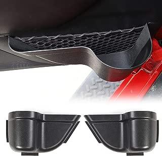 CheroCar Upgraded Version JK Front Door Pockets Storage Inserts Side Organizer Box for Jeep Wrangler 2011-2018 JK JKU Interior Accessories, Black