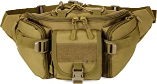 ChilMo Tactical Waist Pack Bag Waterproof Military Fanny Packs Hip Belt Bag Pouch for Hiking Climbing Bumbag