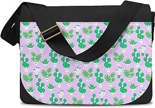 Kawaii Cactus Plants Lilac - One Size Messenger Bag - Messenger Bag