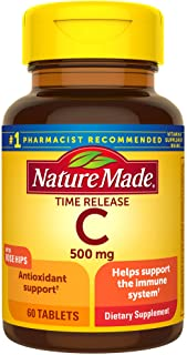 Vitamin C 500 mg Time Release Tablets with Rose Hips, 60 Count
