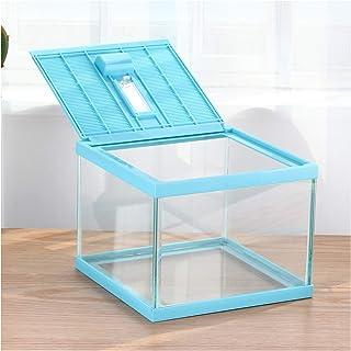 crapelles ReptileTerrarium Color Blue Spider Box Tarantula Container cage Gecko Habitat Insect Enclosure pet Tank Frog Car...