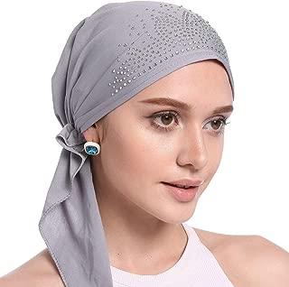 Amorar Mujeres Chemo Sombrero Slouch Beanie El/ástico Casquillo de la Yoga Cabeza Bufanda Turbante Delgado Headwear Skull Cap