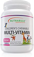 NutraBulk Children's Chewable Multi-Vitamin Tablets for Kids to Support Immune, Bone, and Brain, Contains All Natural Vita...