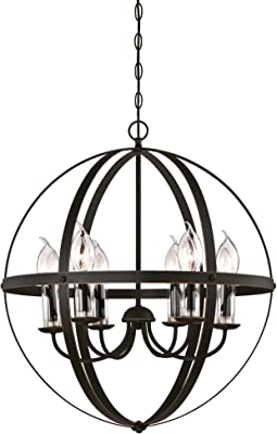 Westinghouse Lighting 6339000 Stella Mira Six-Light Outdoor Chandelier, Oil Rubbed Bronze