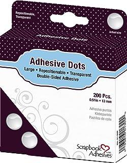 Toga AC304 Lot de 200 Pastilles Adhésives double-face 13mm, Autre, Transparent, 9 x 11.5 x 2.5 cm