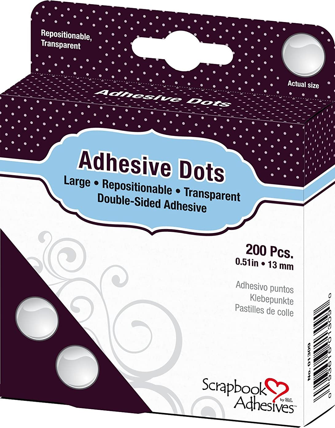 SCRAPBOOK ADHESIVES BY 3L Adhesive Repositionable Large Dots