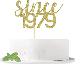Since 1979 Cake Topper, Birthday Cake Topper, Birth Year Cake Topper, 40th Birthday Cake Topper, 40 Cake Topper, Forty Cake Topper