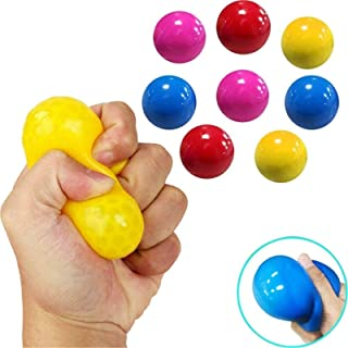 4 Color Sticky Globbles Ball Stress Toy, Fluorescent Sticky Wall Ball Sticky Target Ball Decompression Toy for Adults Kids...