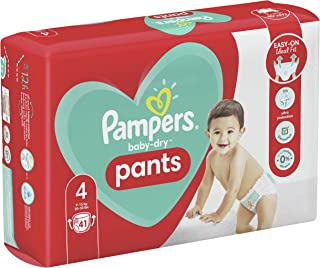Pampers Baby-Dry Nappy Pants Size 4, 41 Count