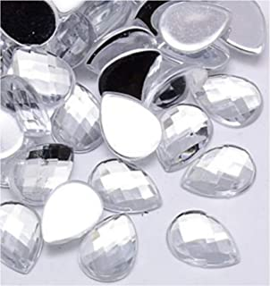 /patines/ /Creation joyas perlas Juego de 15/cuentas brillantes redondo a pegar acr/ílico transparente 20/mm/