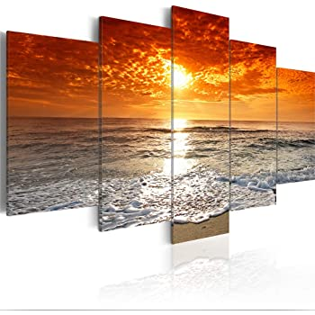 Leinwandbild Kunst-Druck 100x50 Bilder Landschaften Sonnenuntergang