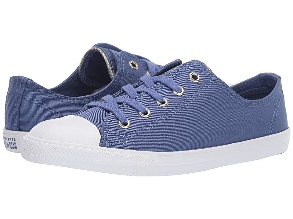 05f3fa4f0d0f Converse Chuck Taylor All Star Dainty Ox (Washed Indigo Indigo Fog Light  Gold) Women s Lace up casual Shoes