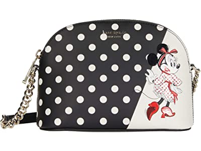 Kate Spade New York Disney X Kate Spade New York Minnie Mouse Small Dome Crossbody (Black Multi) Handbags