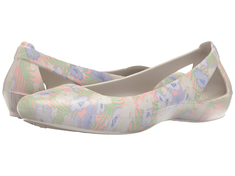 Crocs Sienna Graphic Flat (Light Pink/Floral) Women